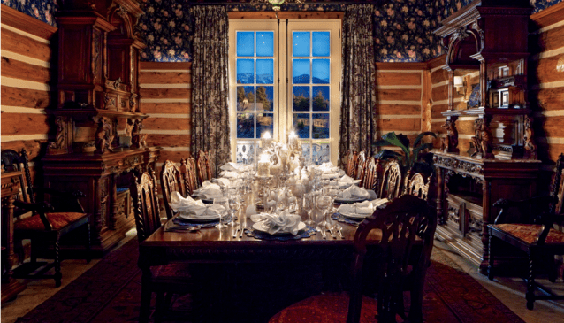 Avalanche Ranch Main House Dining Room