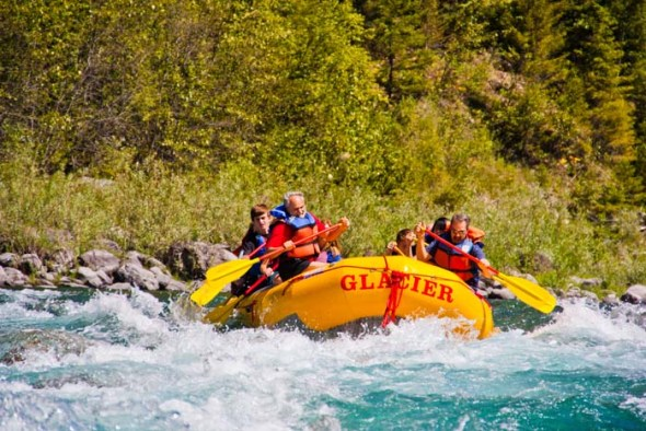 whitewater rafting montana glacier