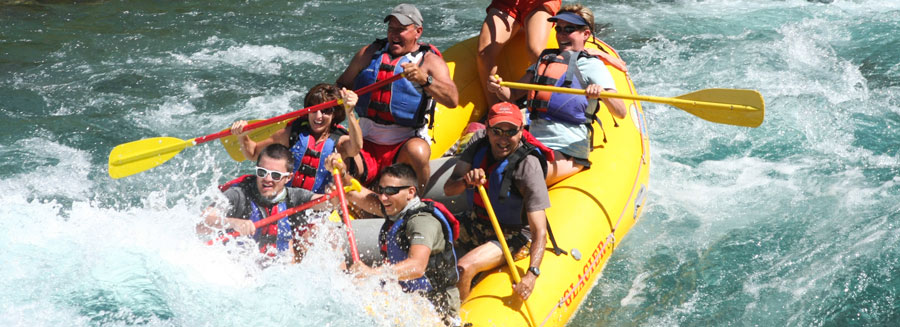 Montana Whitewater rafting in Glacier National Park