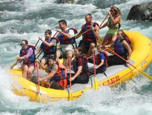 Glacier Raft Co National Park Rafting the Flathead River class three