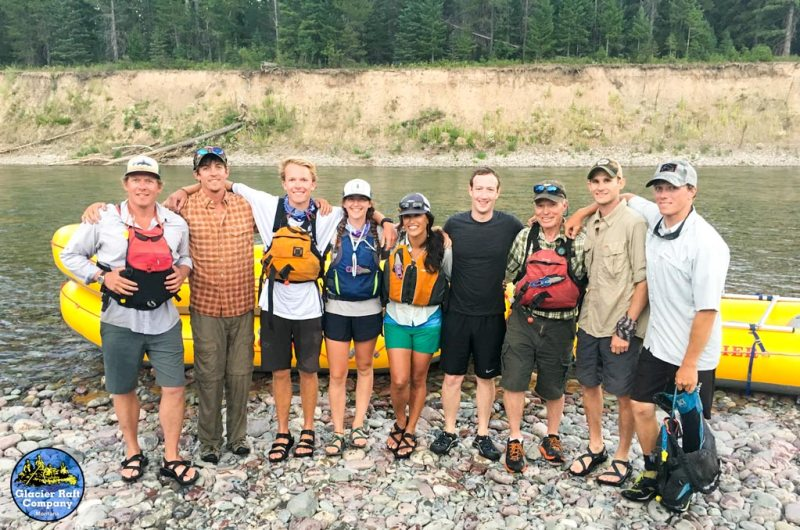 white water rafting glacier national park, mark zuckerberg rafting