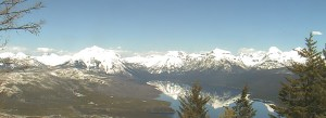 Webcam view from Apgar Mountain Glacier Park looking North East