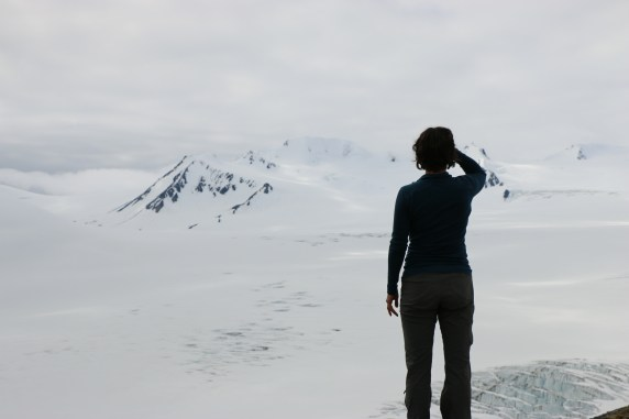 Alayne observes, absorbs all the white that is the Harding Icefield, AK