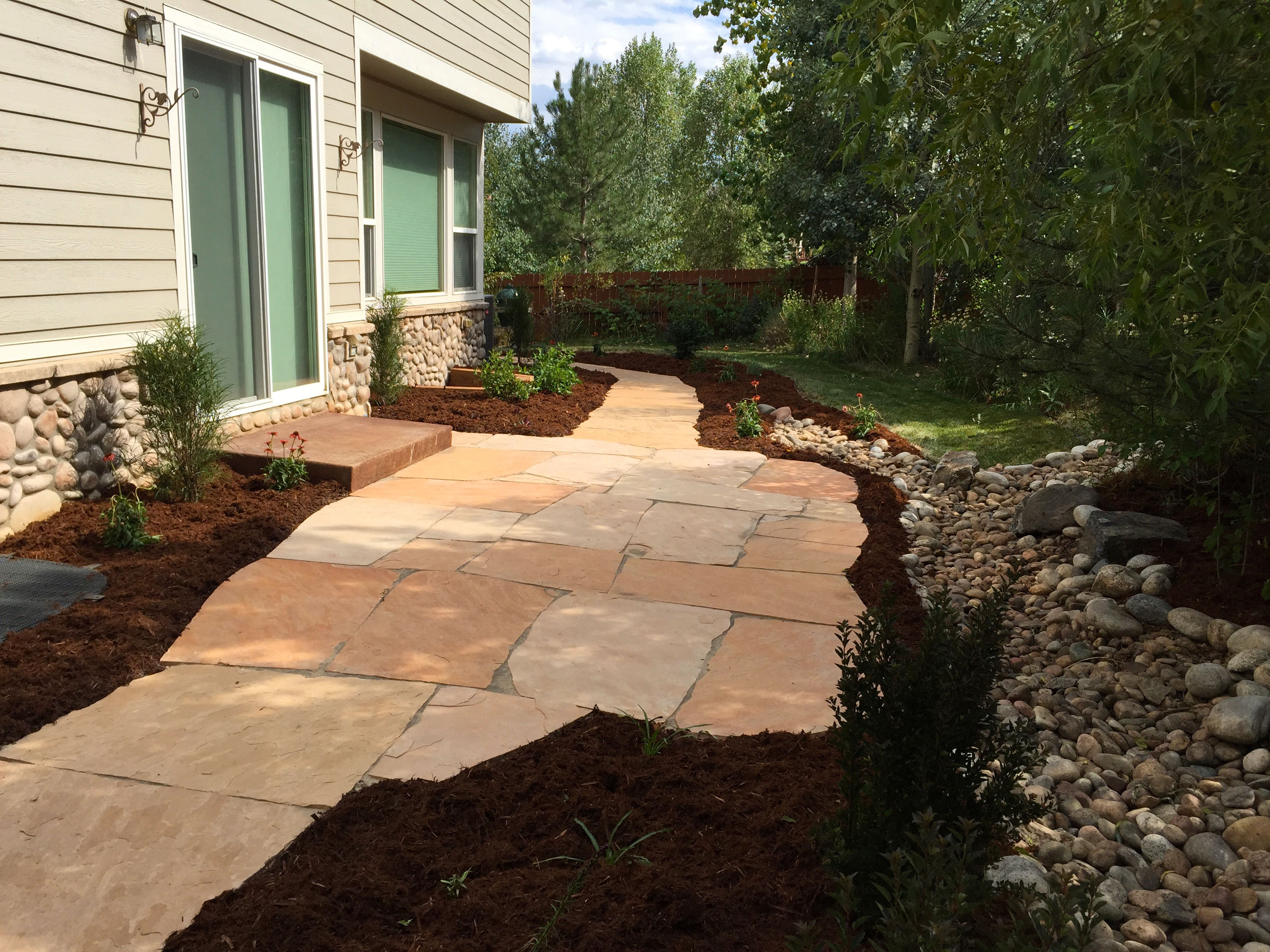 Stonework and Hardscapes - Glacier View Landscape and ... on Flagstone Backyard Patio id=97391
