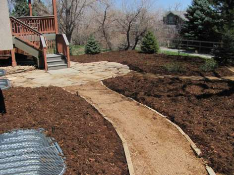 Buff Stone Patio and Walkway