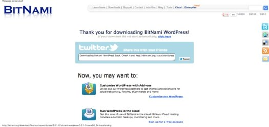 Download BitNami WordPress Stack 2