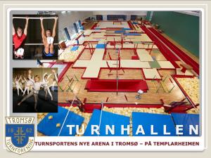 Den nye turnhallen på Templarheimen. Turnsportens nye arena. Foto: Tromsoturn.no