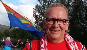 """Alf Edvard Masternes er leder av Tromsø ILs offisielle supporterklubb """"Isberget""""."""
