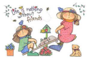 Vänner gungar
