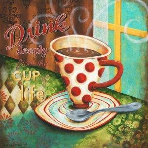 Drick ur livets kaffe kopp