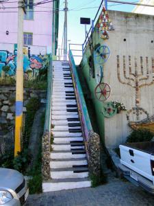 Färglad piano trappa