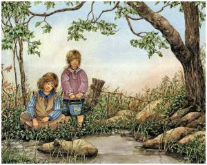 Barn natur hink