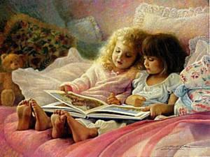 Barn säng godnattsaga