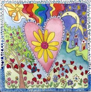 Hjärta kulig blommor