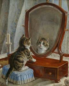 Kattunge spegel