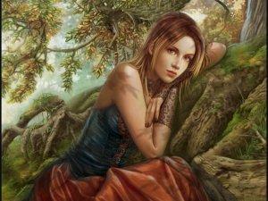 Vacker ung kvinna