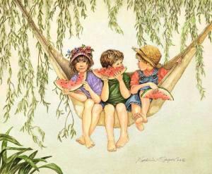 Barn hängmatta melon