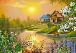 Hus kulle landskap