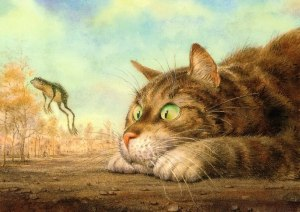 Katt kul groda