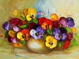 Blommor guldskål