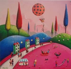 Hus kullar rosa