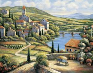 Italien vatten landskap