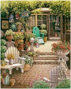 Trädgård tecknad