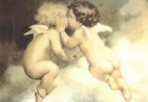 Änglar beige gulliga moln
