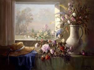 Fönster blommor hatt