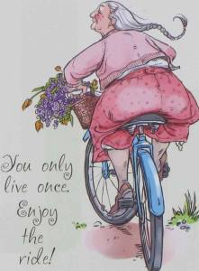 Kvinna cykel