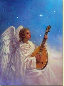 Ängel blå banjo