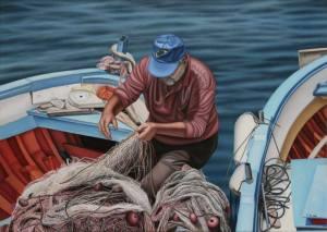 Fiskare nät