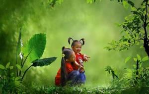 Barn asien grönt