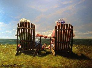 äldre par stolar rygg
