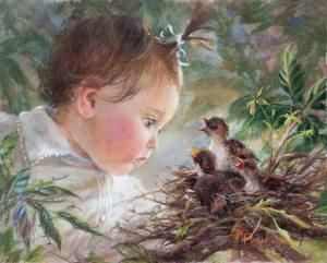 Barn fågelungar