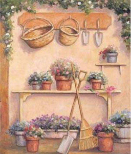Blomsterbänk beige