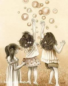 Barn beige ballonger