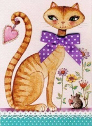 Katt tecknad fin liten