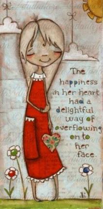 Flicka röd lycka