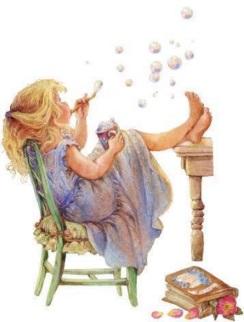 Flicka såpbubblor kopia