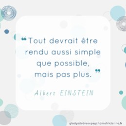 citation inspirante Einstein - simple