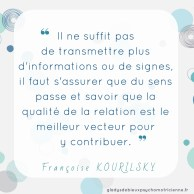 citation inspirante Kourilsky - informations relation