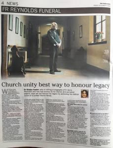 Irish news funeral story