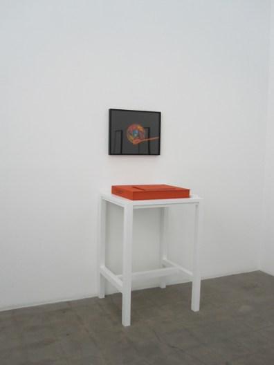 "Greg Wilken, ""Vanitas vanitatum; or 6 Interiors,"" 2010, Framed C-print, book, case, and table, 17 x 20 inches (43 x 50.8 cm), Series of 6"