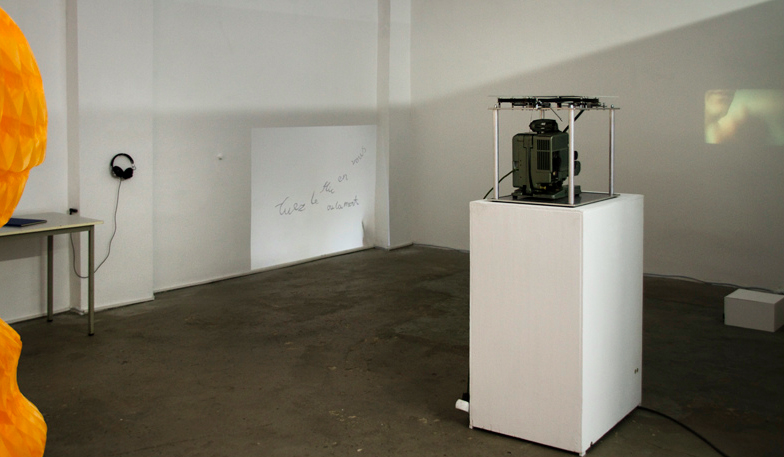 South gallery installation view with Megan Cotts, Alex Martinis Roe, Ylva Westerlund, and Lindsay Lawson (from left to right)