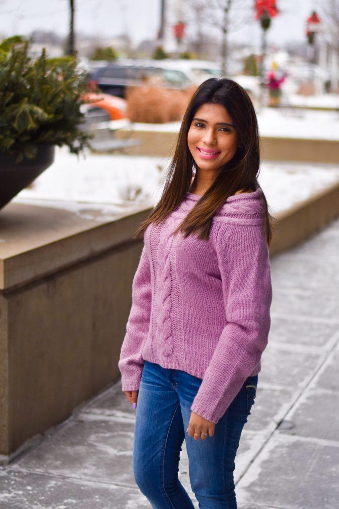 Romwe purple sweater