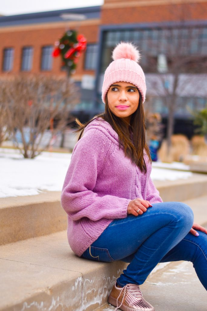 Romwe sweater with beanie
