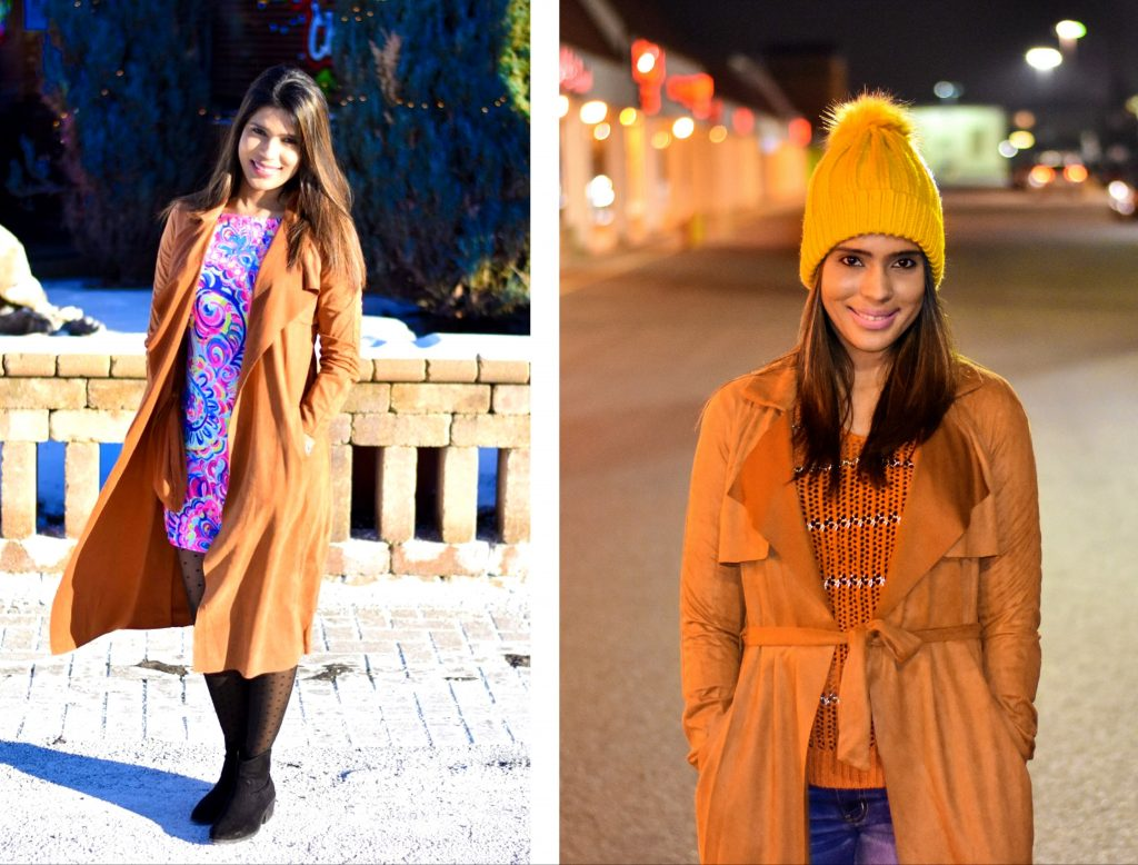Romwe suede coat day and night