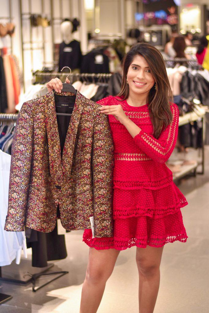 Floral Blazer Zara Woodfield Mall