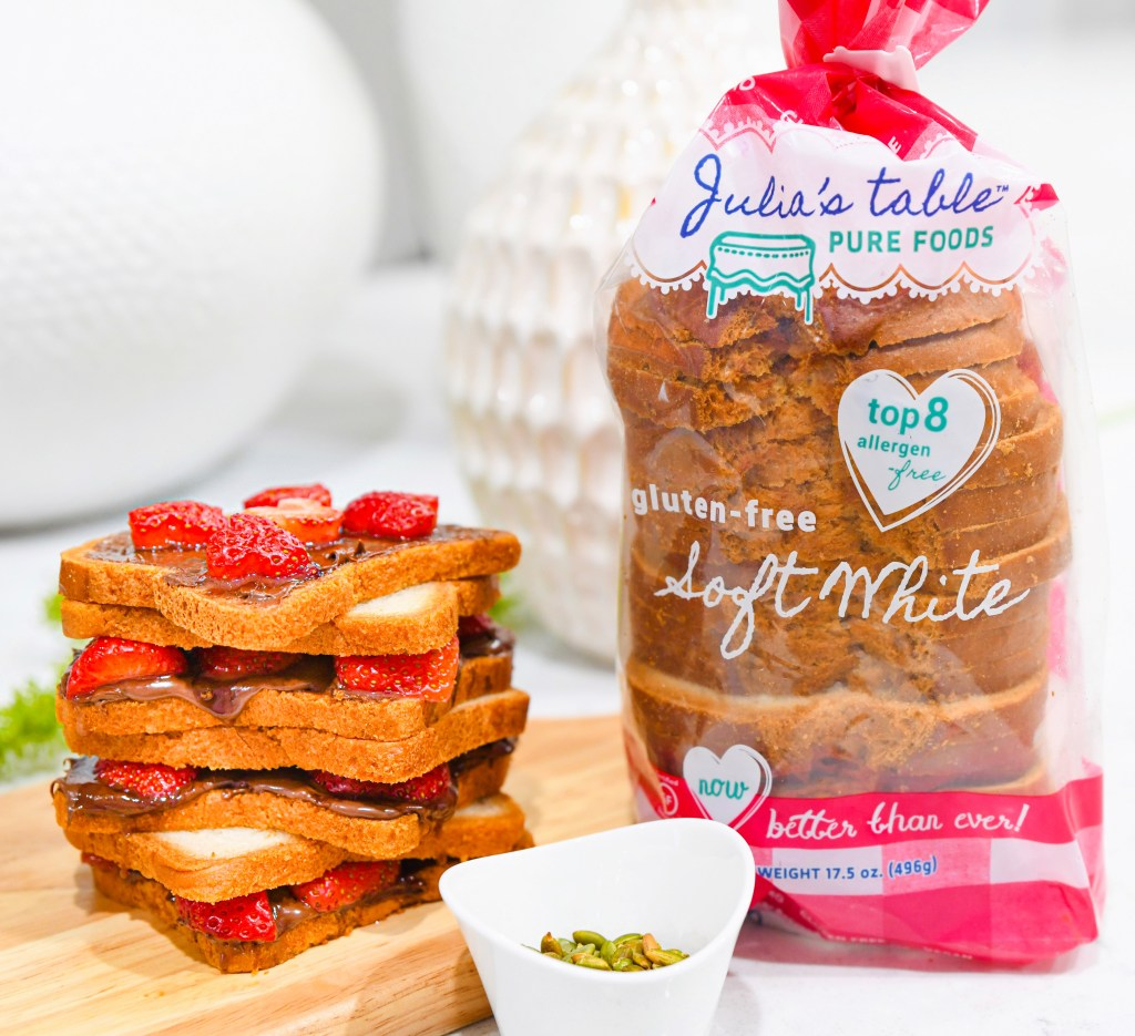 Recipe of Julia's Table Strawberry and Chocolate Almond Sandwich